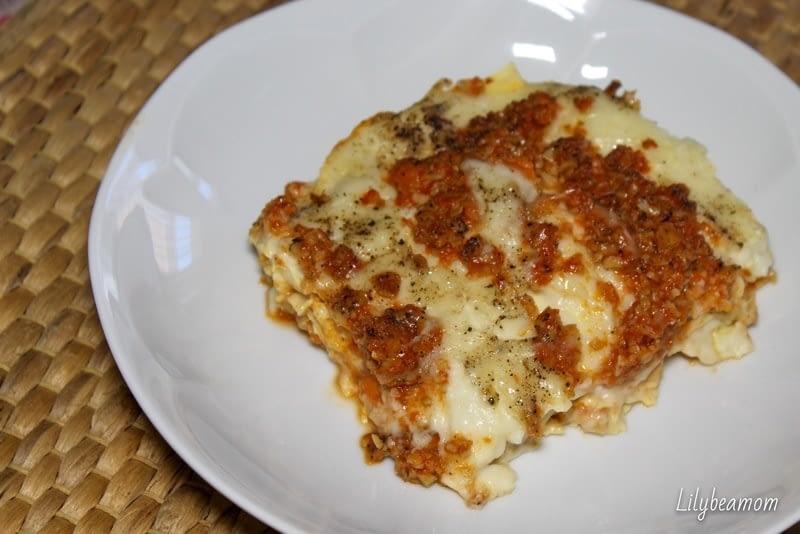 Lasagne al ragù di seitan   paninisopraffini.com